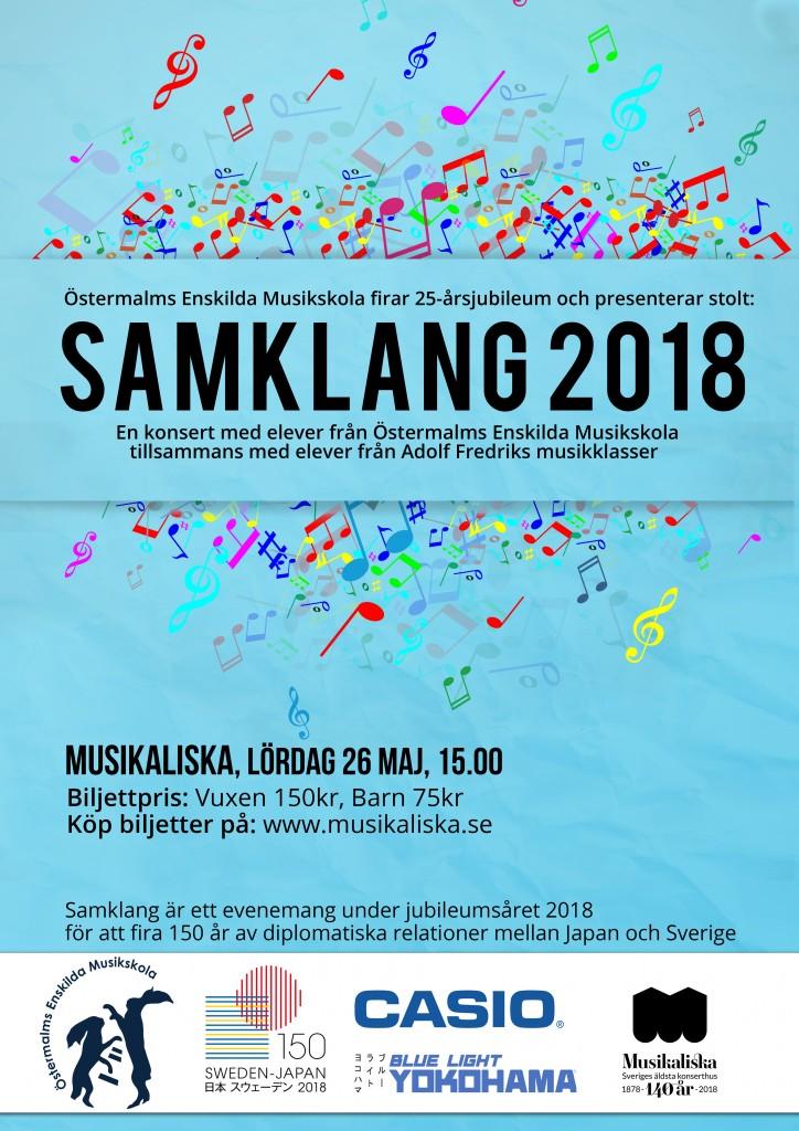 Affisch SAMKLANG 2018